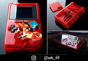 custom Gameboy Pokemon RED - charizard theme by Zoki64