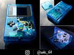 custom Gameboy Pokemon BLUE - blastoise theme