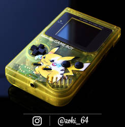 custom Gameboy Pokemon YELLOW - pikachu theme  by Zoki64