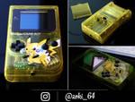 custom Gameboy Pokemon YELLOW - pikachu theme