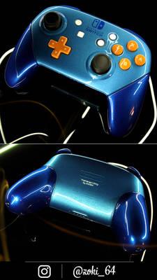custom pearl blue Nintendo Swich pro controller