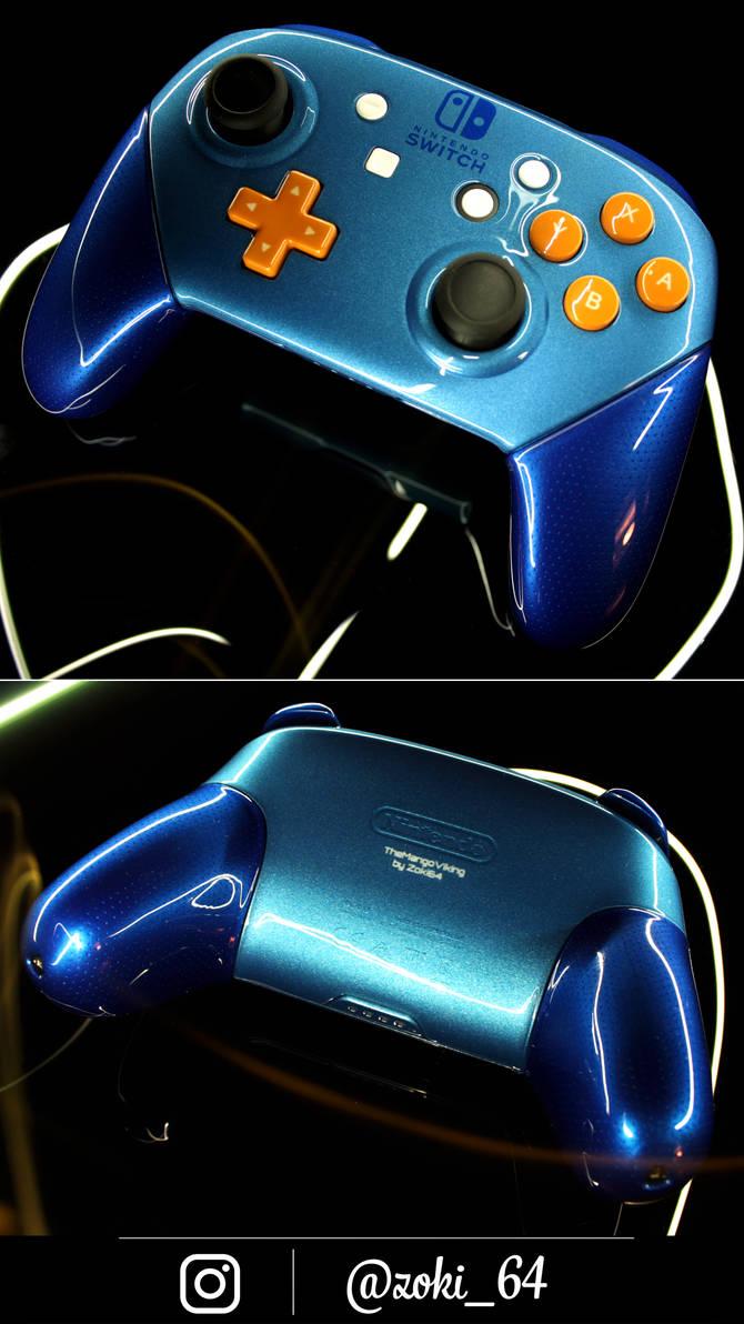 custom pearl blue Nintendo Swich pro controller by Zoki64