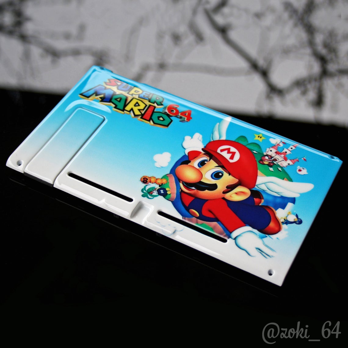 Custom Super Mario 64 switch backplate