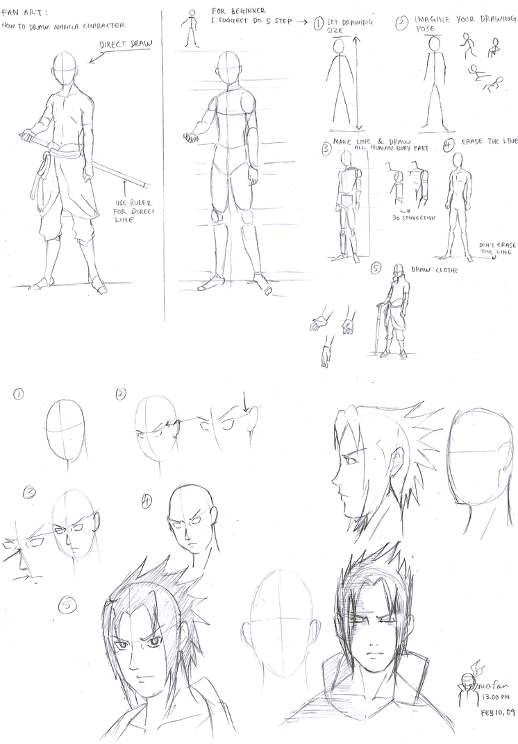 How To Draw Manga Character2 by omofan on DeviantArt
