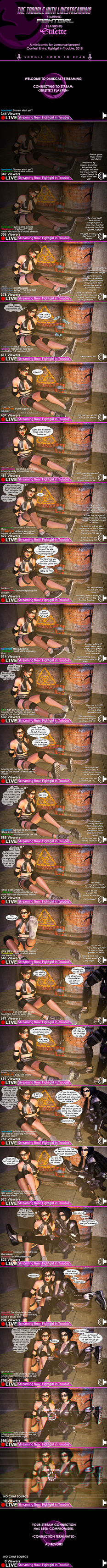 The Trouble with Livestreaming - Fightgirl Contest by jormunartserpent