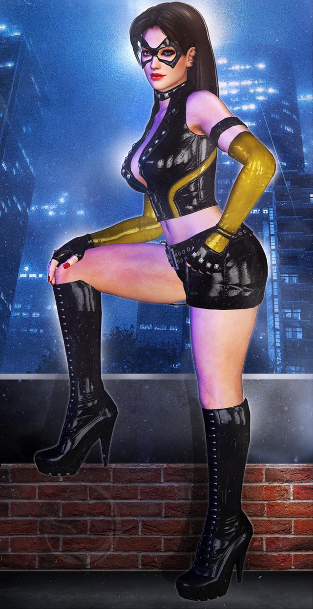 Fightgirl in Latex by jormunartserpent
