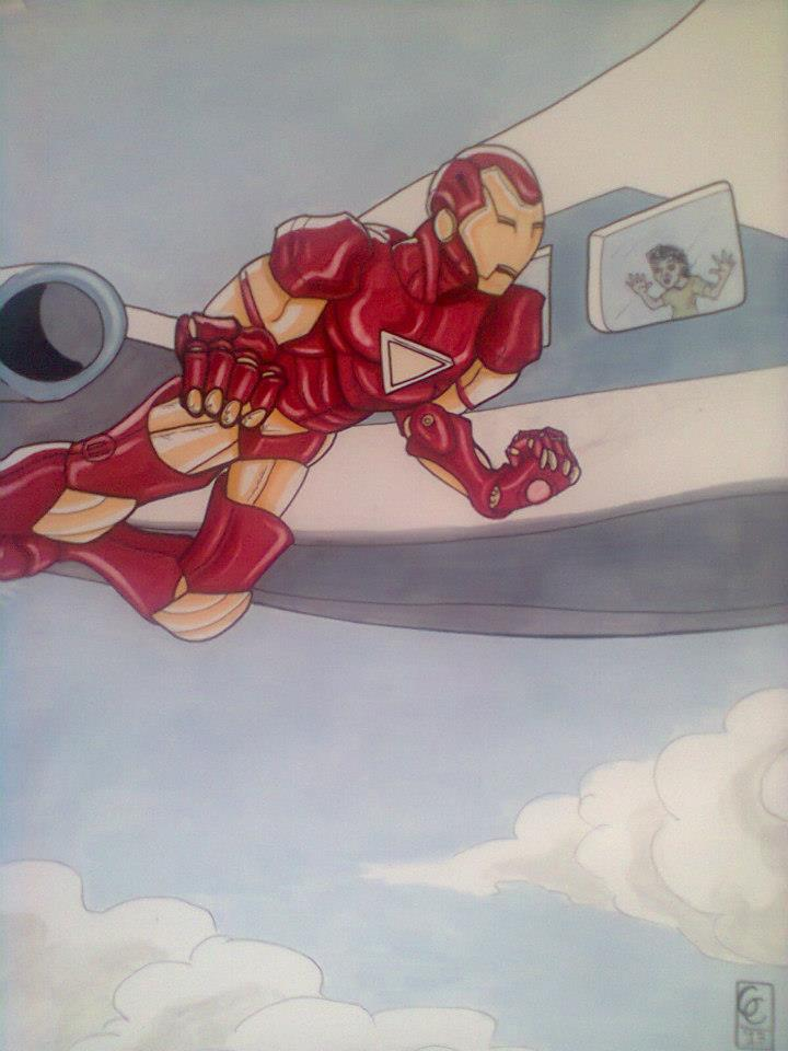 Iron Man fan art - pantone marker by GabeCrepaldiArt