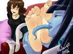 Ionas feet licked by Nameru