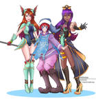 Trials of Mana Trio Cosplay Group by jackorein