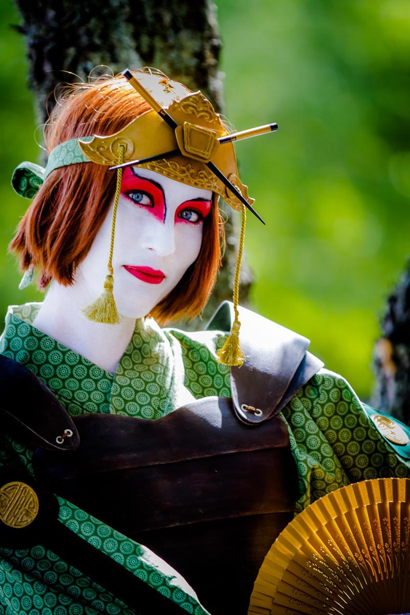 Kyoshi warrior cosplay by martawadman