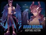 [CLOSED] ADOPTABLE AUCTION #7 - Avian Dragon
