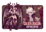 [CLOSED] ADOPTABLE AUCTION #8 - Golden Dragon