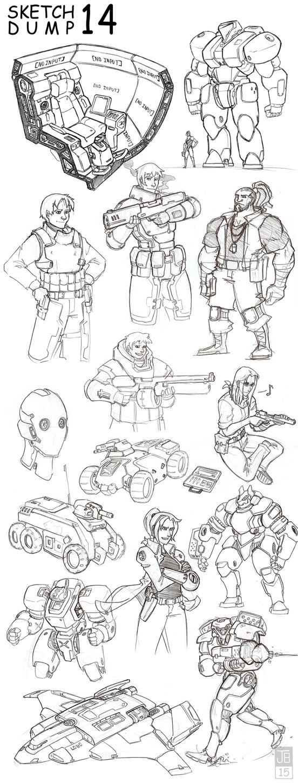 SketchDump 14 by Dadrick