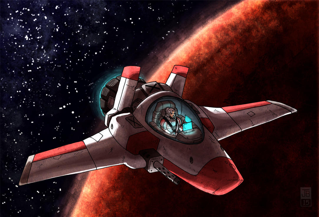 Deep Space Fighter by Dadrick