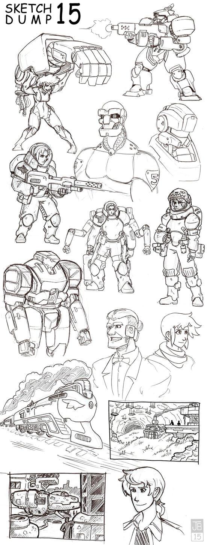 SketchDump 15 by Dadrick