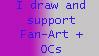 Fanart and OC stamp by Akina-SA