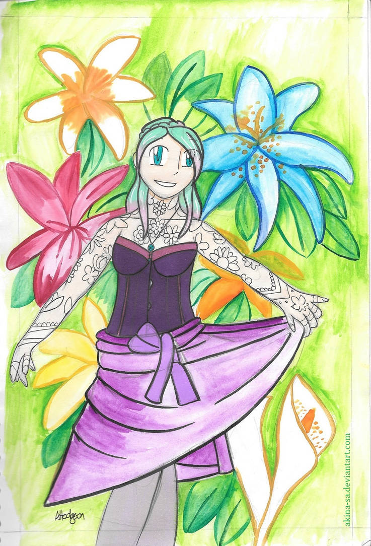 Flower Maiden by Akina-SA