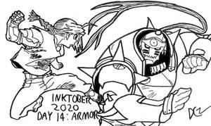 Inktober 2020 Day 14 - Armor
