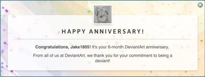 6 months Deviantart 9/7/19