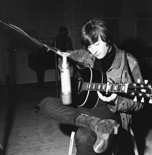John Lennon Playing Guitar By Ninjapie25 On Deviantart