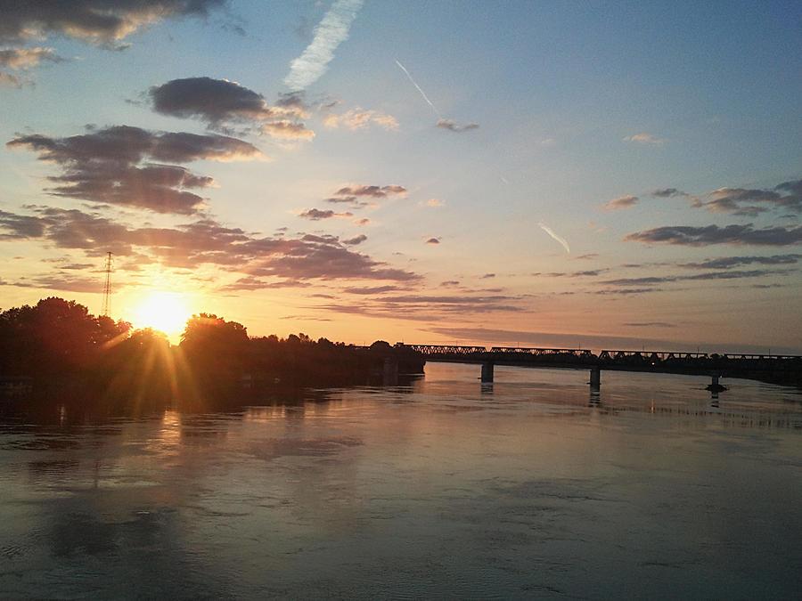 Po river at sunrise by edwarddd89