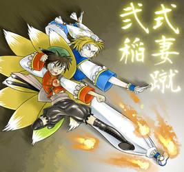 Super double INAZUMA kick by odaleex