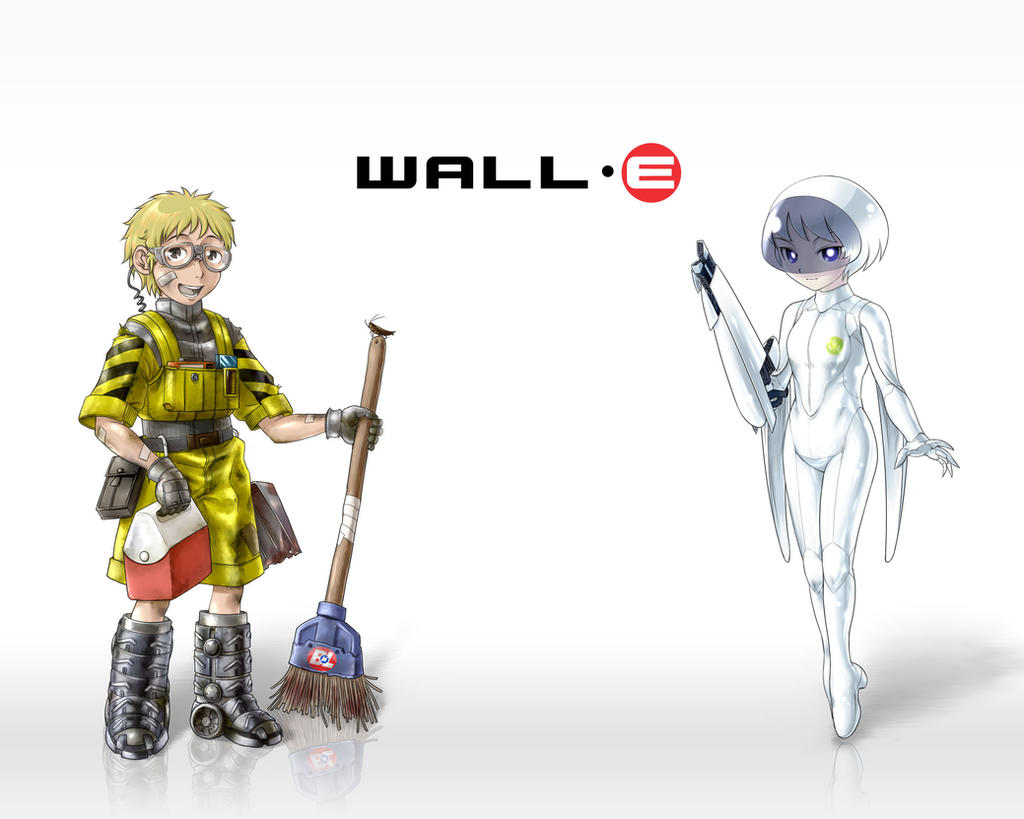 Humanized Wall E And Eve By Odaleex Jpg