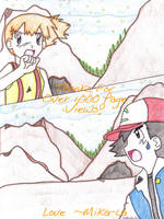 Ash and Misty 1,000 views by mika-la