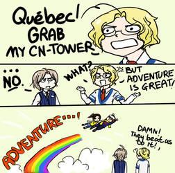 QUEBEC, GRAB MY TOWER by Misharoyuki