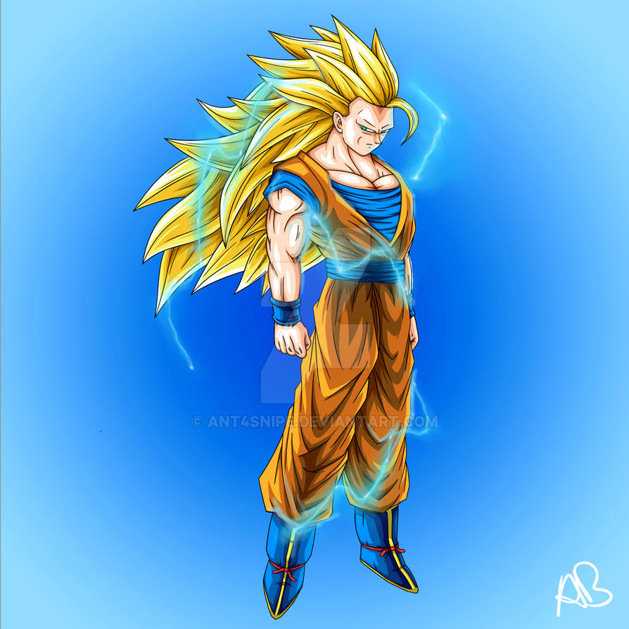Goku super saiyan 3 by ant4snipe on deviantart - Sangohan super saiyan 3 ...