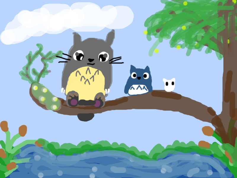 The Totoro Family by LucarioLover1994