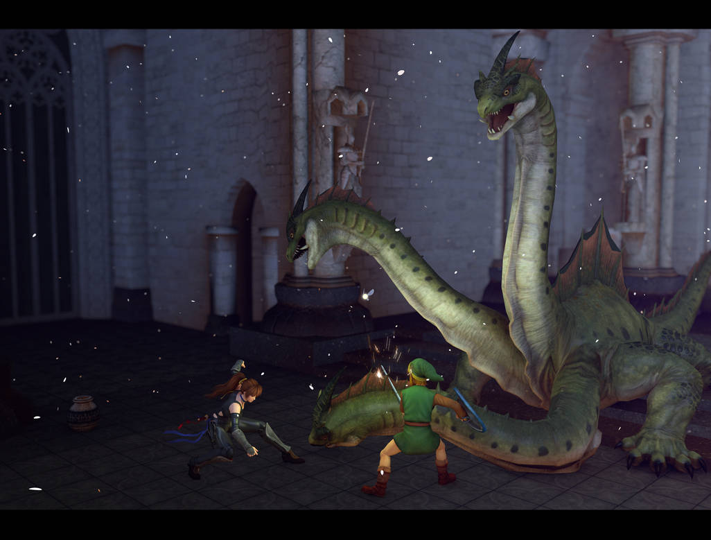 Level 4 - Fighting Gleeok by Canbar on DeviantArt