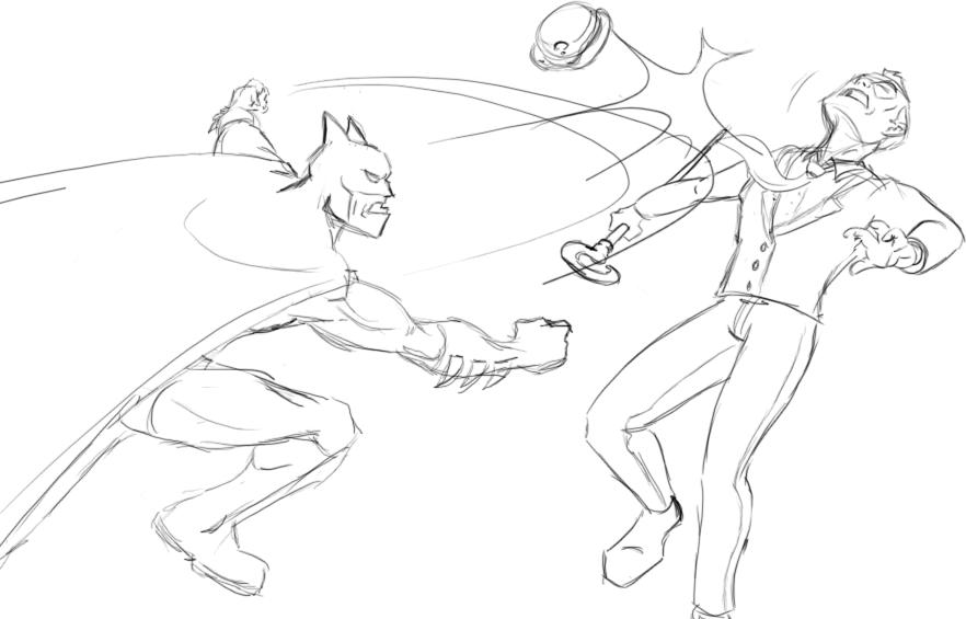 Line Drawing Riddles : Batman vs riddler by poulto on deviantart