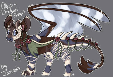 Okapi Dragon Adopt [CLOSED] by Jomadis