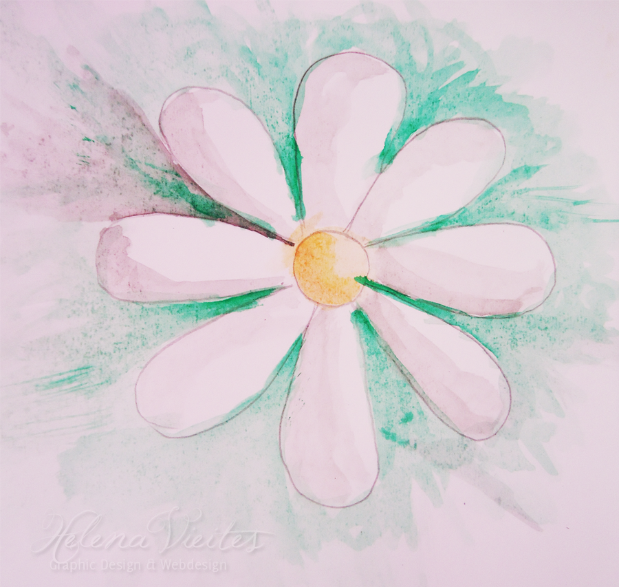 My first watercolor by llenalove for My first watercolor painting