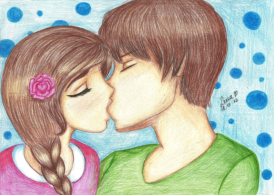 Couple Kissing by llenalove on DeviantArt