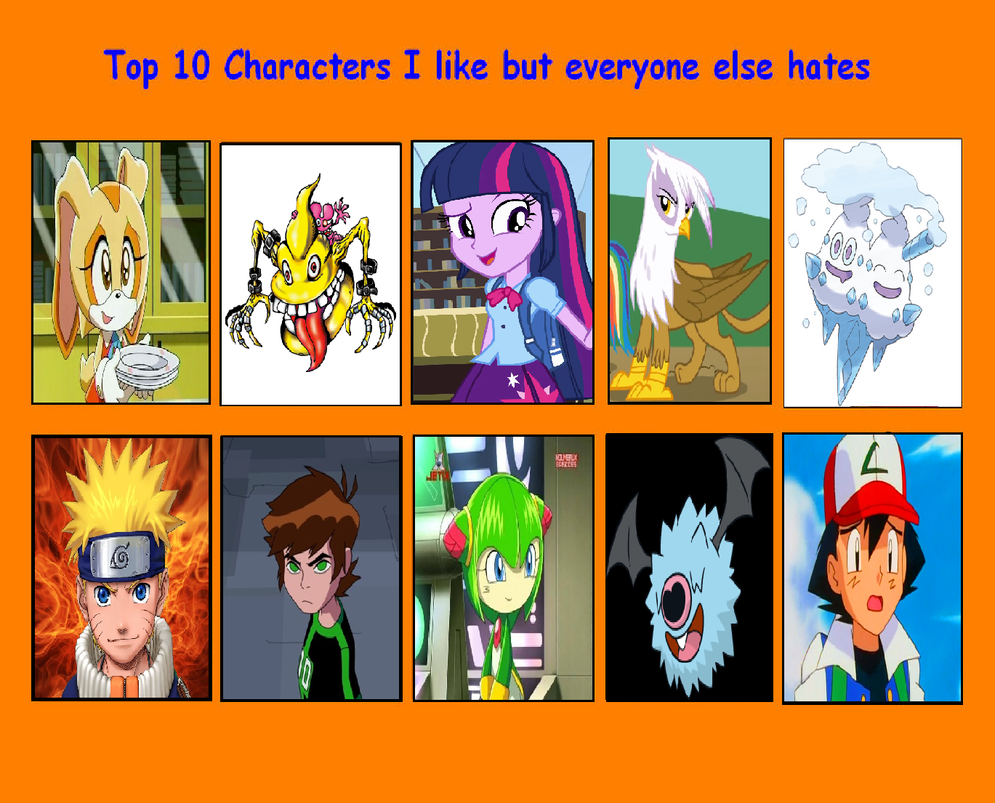 Anime Characters Everyone Hates : Top characters i like but everyone else hates by