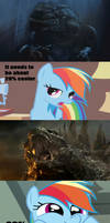 Rainbow Dash Reaction to Godzilla 2014