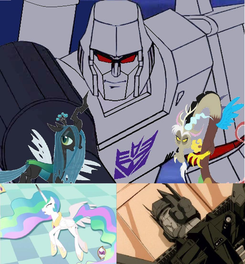 Megatron killed both optimus prime and celestia by keyblademagicdan on