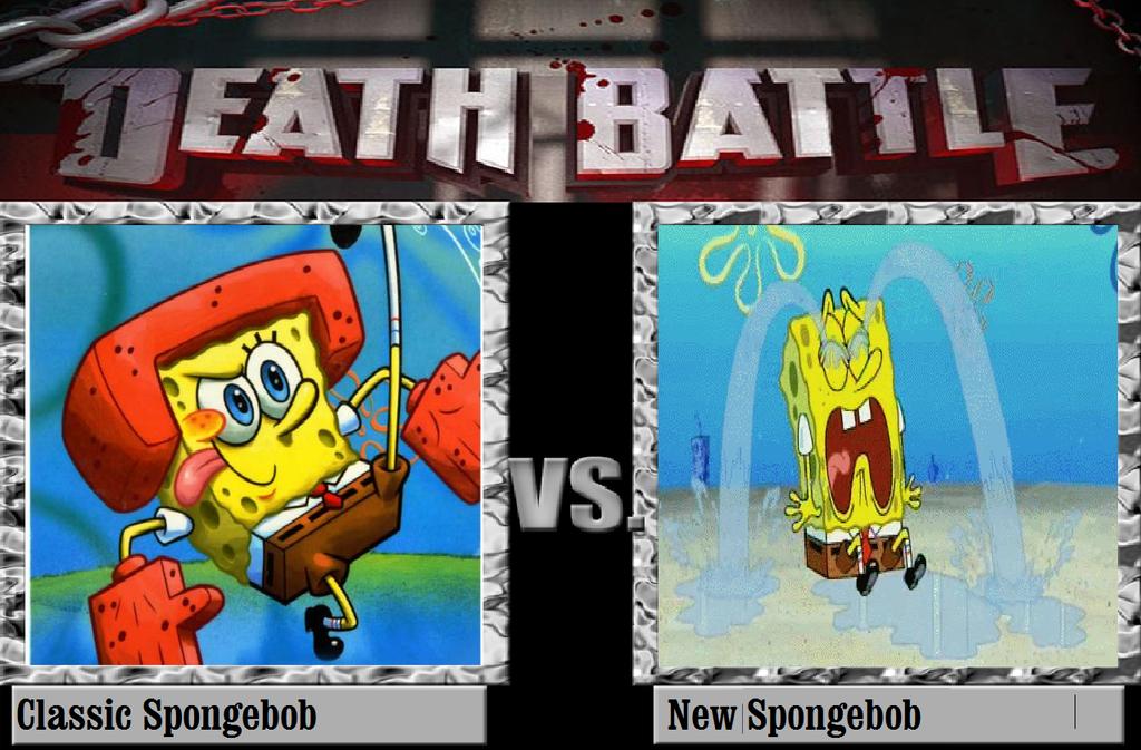 Spongebob Meet Bendy Deviantart: Classic Spongebob Vs New Spongebob By KeybladeMagicDan On