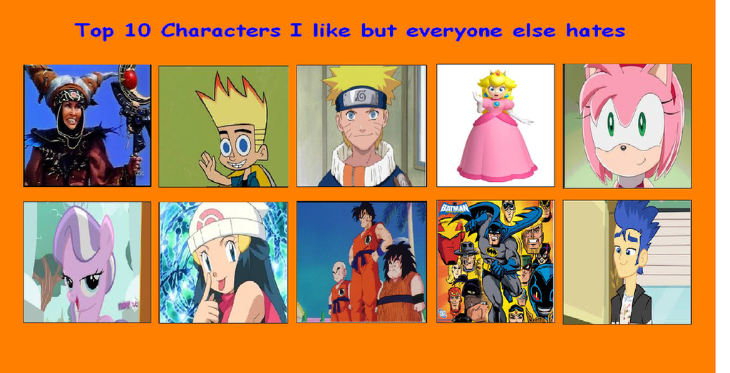 Anime Characters Everyone Hates : Retop characters i like but everyone else hates by