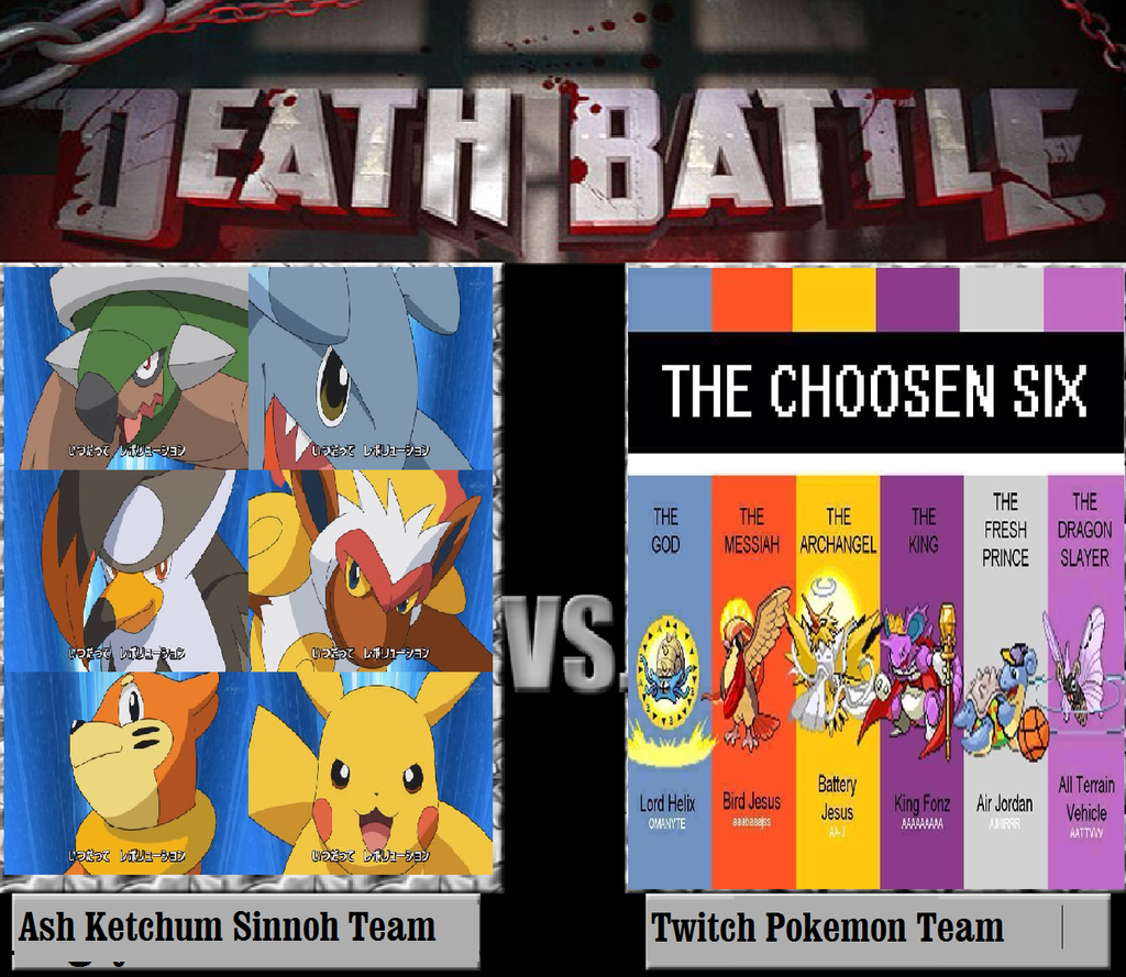 ash u0027s sinnoh team vs twitch pokemon team by keyblademagicdan on