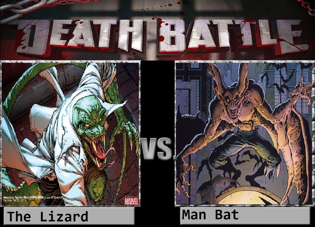 The Lizard Vs Man Bat by KeybladeMagicDan on DeviantArt Manspider Vs Manbat
