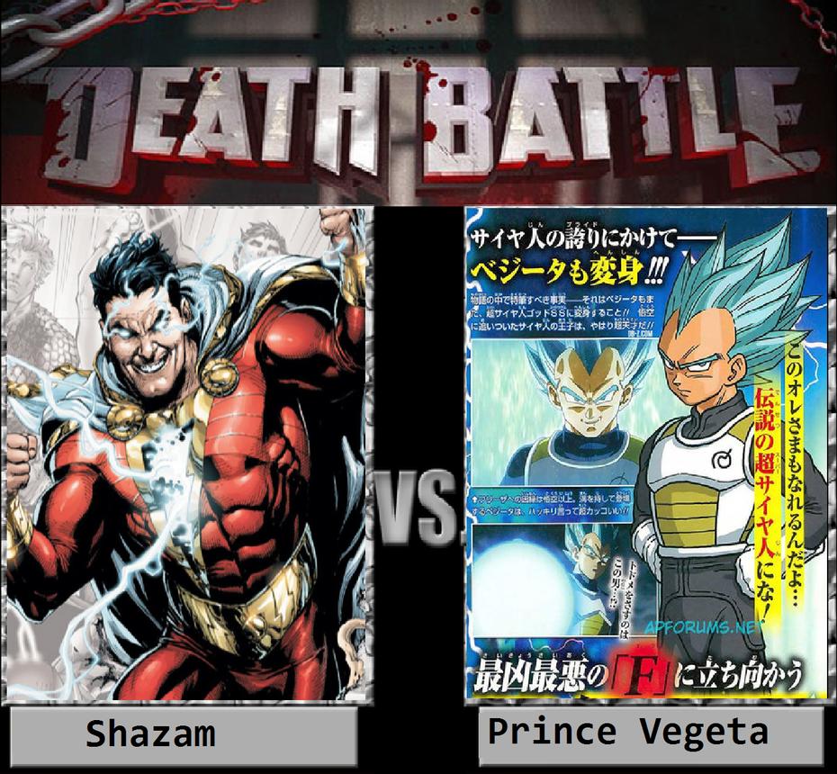 Shazam Vs Prince Vegeta By KeybladeMagicDan On DeviantArt