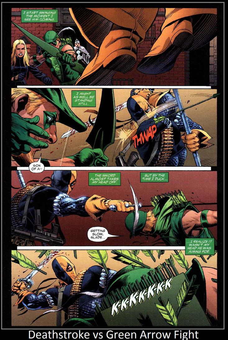 Deathstroke vs Green Arrow fight by KeybladeMagicDan on ... | 733 x 1089 jpeg 274kB