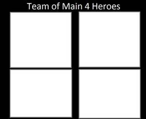 Team of Main 4 Heroes