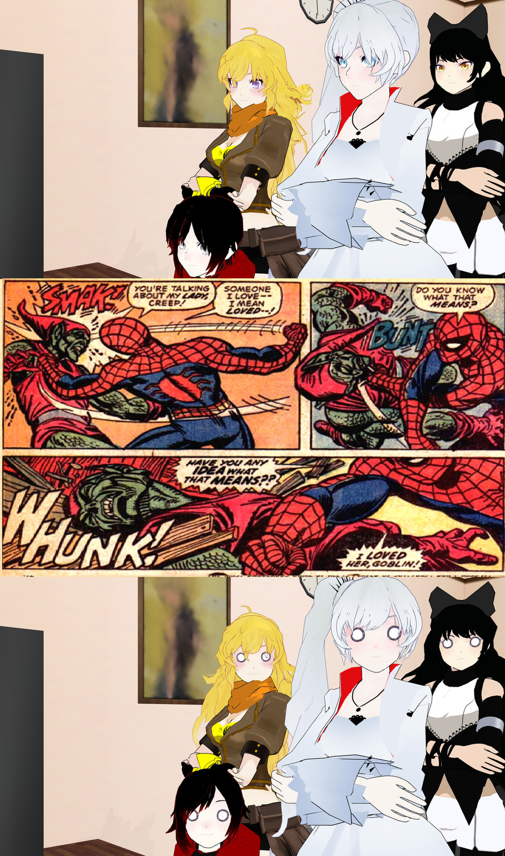 Rwby React to a Angry Spiderman by KeybladeMagicDan on