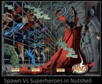 Spawn Vs Superheroes in Nutshell