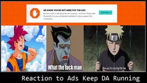 Reaction to Ads Keep DA Running Messages