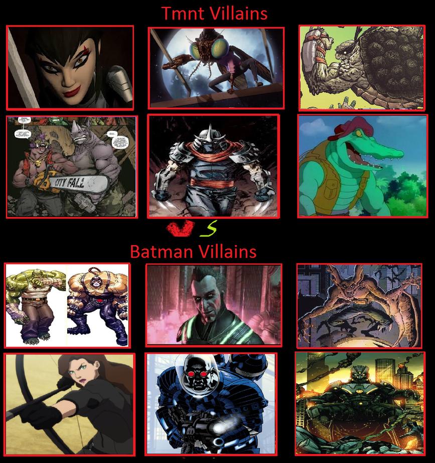 tmnt villains vs batman villains by keyblademagicdan on deviantart
